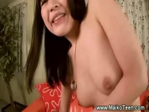 Sexy japanese teen gets her pink pussy rubbed by horny man