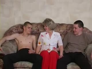 Russian milf and two guys