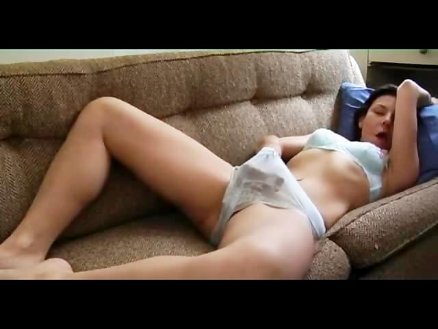 naked women masturbating on the couch