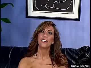 Penthouse model sasha gives blowjob
