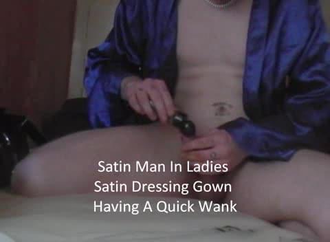 Satin wanking