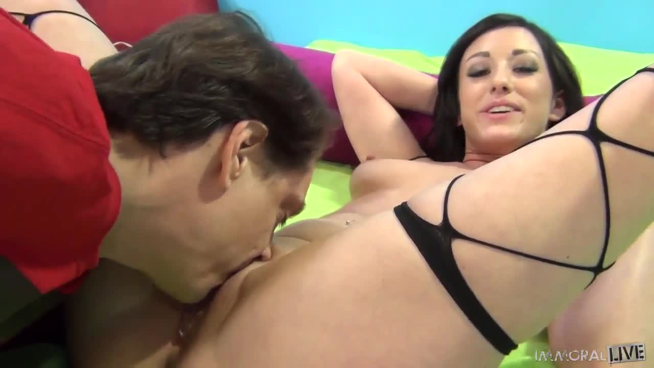 Lingerie wife gaping open asshole anal