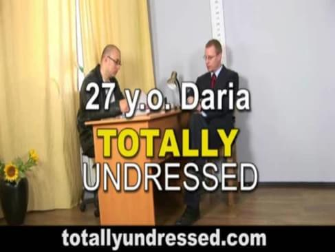 Job interview undressed totally