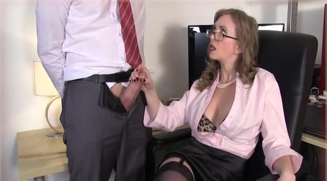 Secretary Handjob