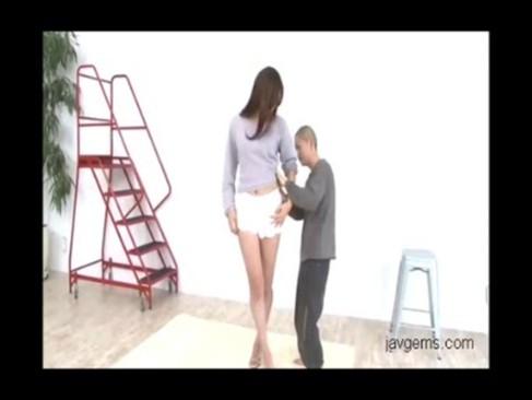 White stockings short skirt