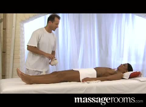 Ebony sensual massage