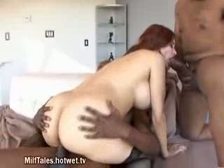 Sexy mature redhead just loves anal porn tube