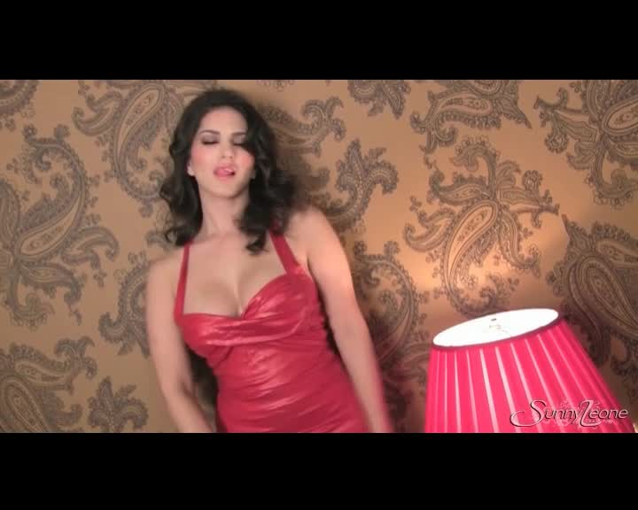 Sexy Red Dress On Pornstar Sunny Leone  Xxxbunkercom -8197