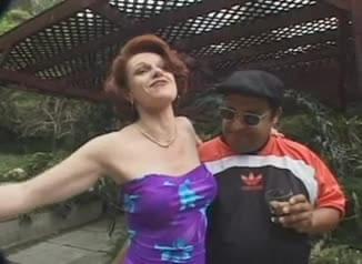 Sexy redhead milf brandy takes two cocks
