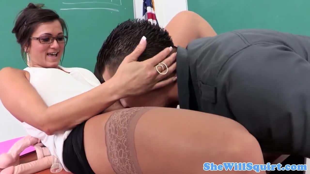 sexy teacher in class