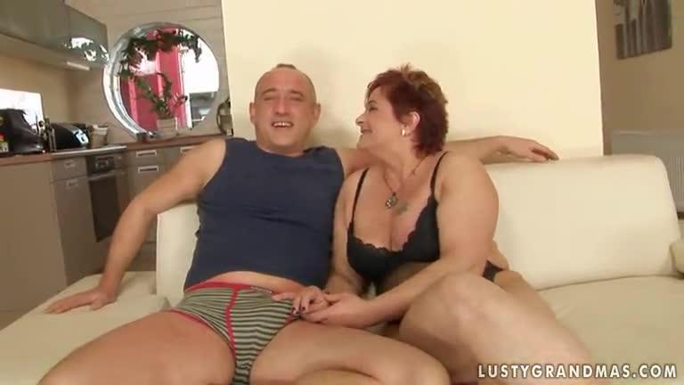 Mature redhead gets fucked hard