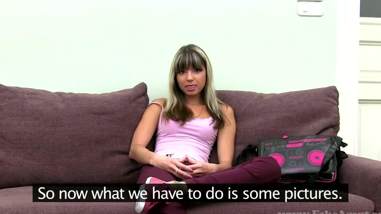 Real girls do porn casting blonde brunette amateur