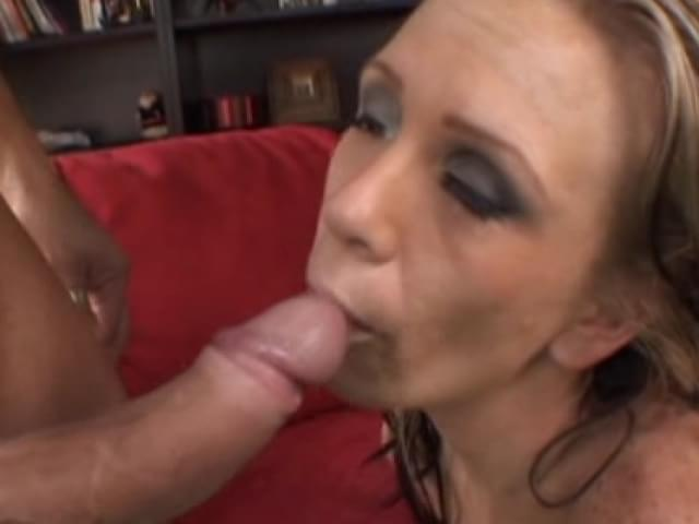 Skinny housewife banging younger guys cock