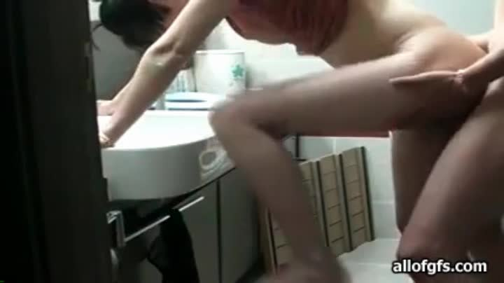 housewife fuck over the sink