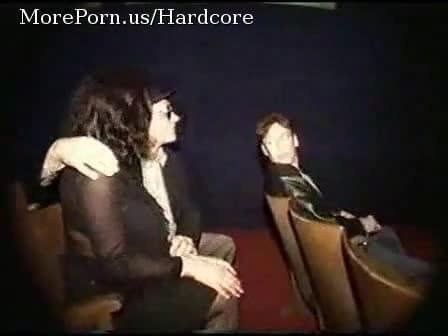Gangbanged In A Porn Cinema