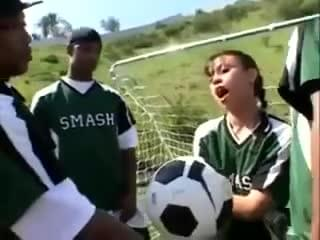Have soccer team gangbang for