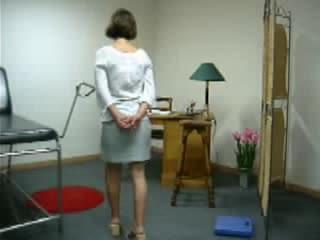 Doctor exam spank