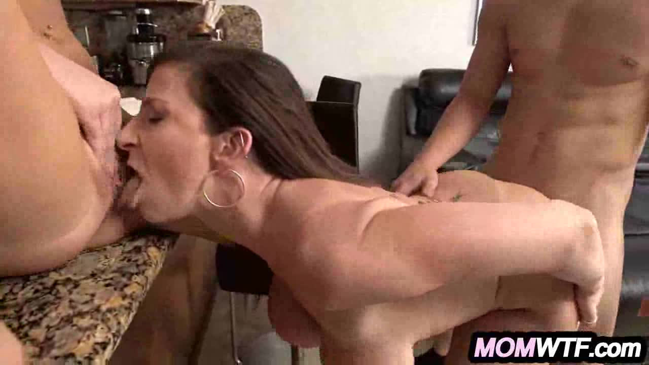 Step daughter threesome