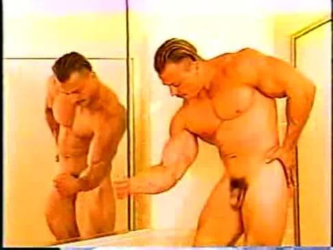 Women peeing on dude nude