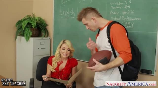 Stockinged blonde teacher laura bentley fucking 6