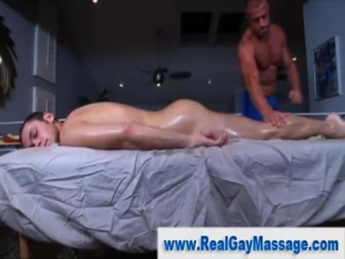 Straight guy gets a cock massage