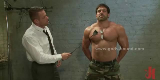 Strong Soldier In Bondage Gay Fuck