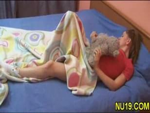 masturbates with teddybear