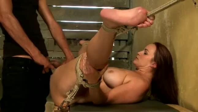 girl got tied up fucked by a guy