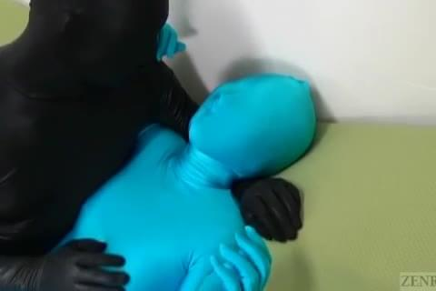 Subtitled bizarre japanese zentai suit drama foreplay in hd 10