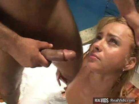 Anal blonde tanned