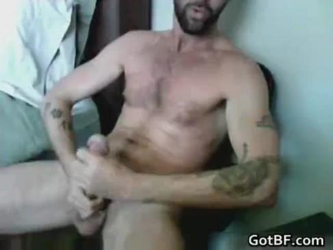 Masturbating Virile Hunk