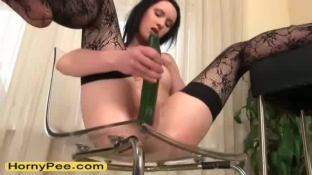 Fucked by a cucumber