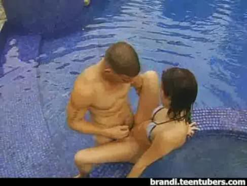 teen sex in the swimming pool. hot and wet brandi belle fucking at the ...