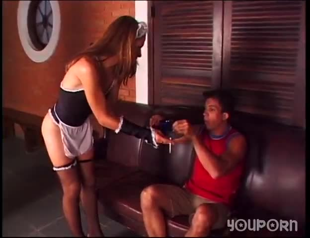 T-girl maid gets fucked - Meltdown