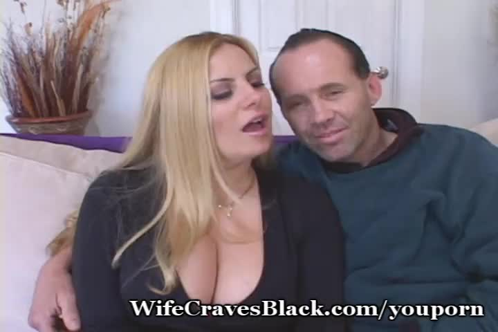 Husband forces wife onto strangers cock