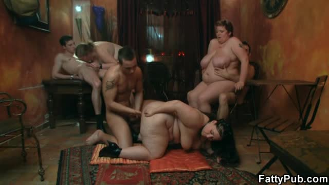 Reverse bukkake 9 cast