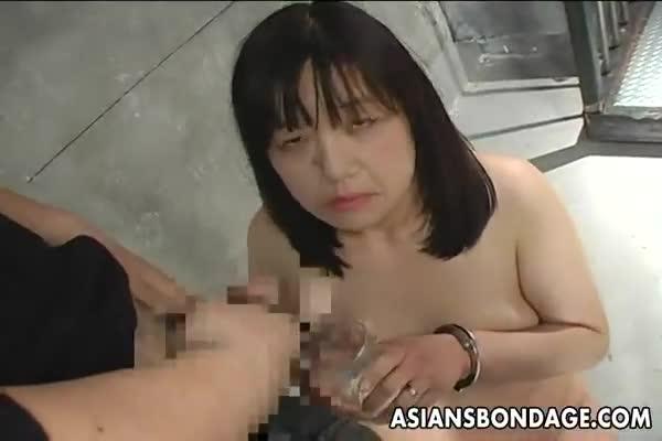 Nasty nude girl vomiting