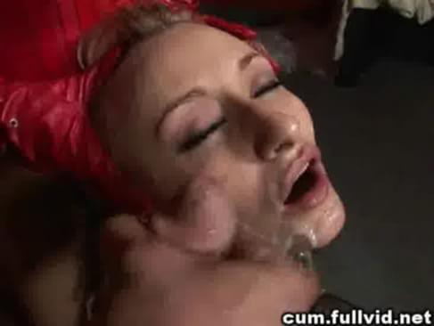 tied up covered in cum