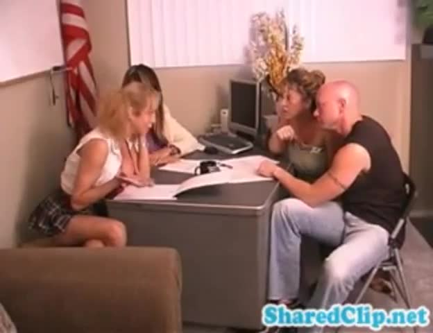 Hardcore sex in the pincipal office