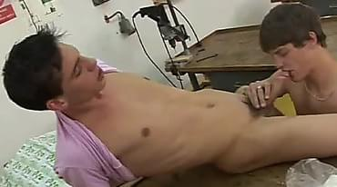 Hard Anal Fucking Twinks Inside The Woodshop