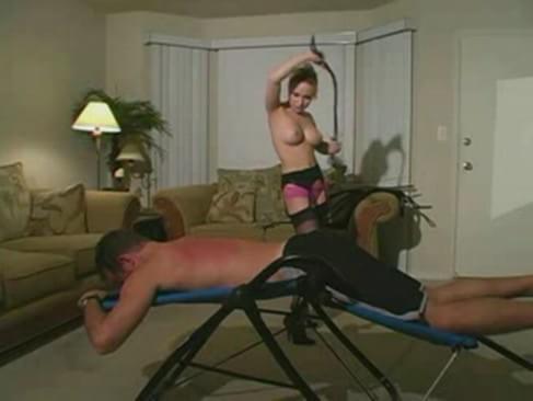 Whips slave mistress