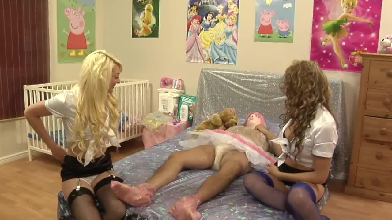 Nursery baby sissy diaper adult