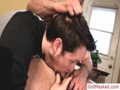 Threesome gays sex ends with cumshot