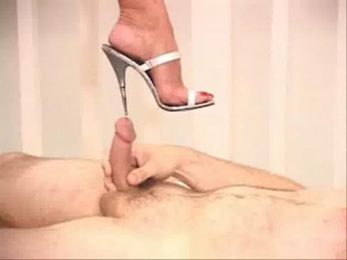 high heel penis insertion