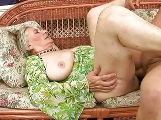 Old granny gets fucked hard