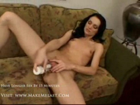 Raven haired woman naked