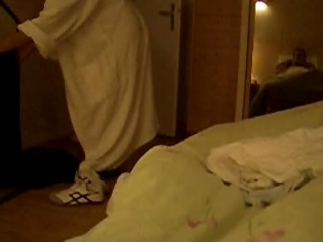 Elderly cat peeing