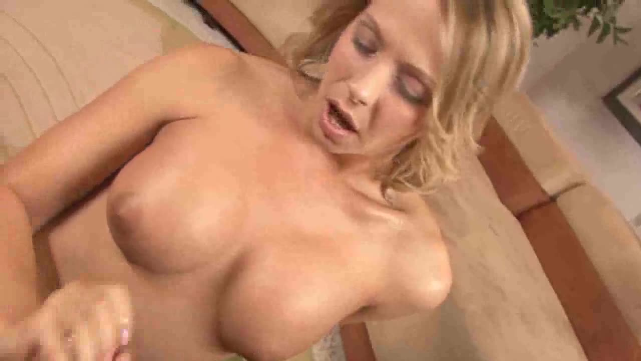 Blonde big tits handjob