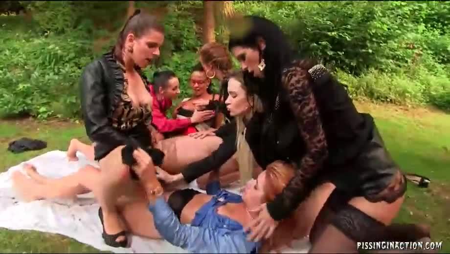 Speaking, lesbian pissing orgy