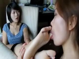 girls Asian girls licking